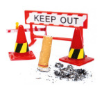 'verbied roken in auto met kinderen'