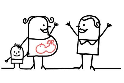 vorm van de zwangere buik